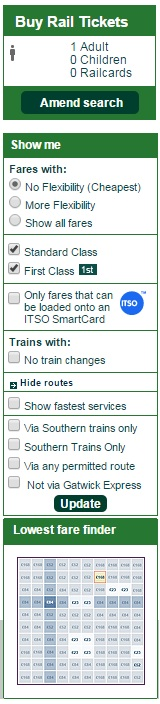 trains no changes discount