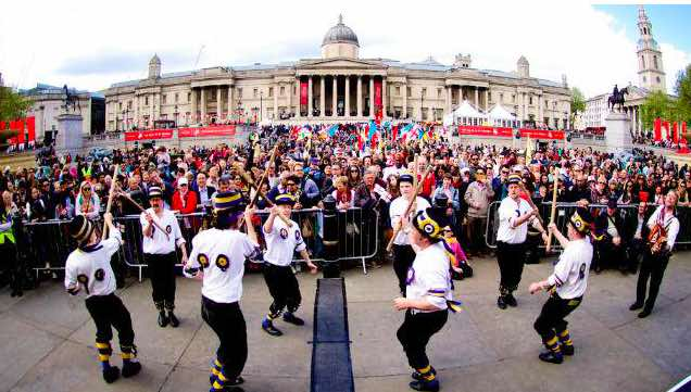 St George's day en Trafalgar Square, Londres.