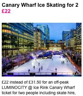 patinaje sobre hielo en Londres