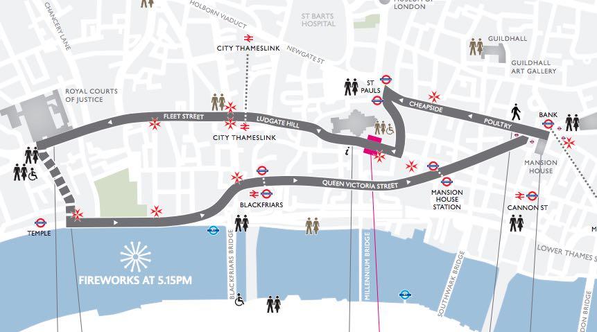 ruta Lord Mayor's show en Londres