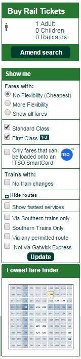 trains no changes discount