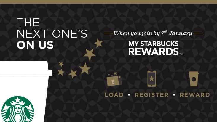 Cafe gratis en Starbucks bajando su app