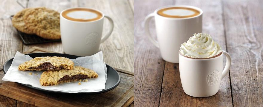 Starbucks hot chocolate o pieza de bakery gratis