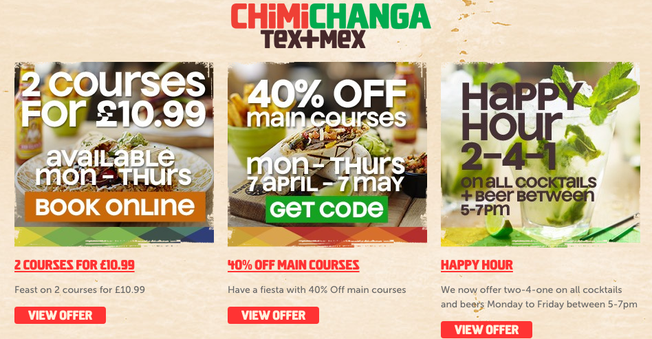 ofertas chimichanga