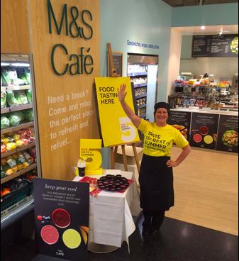 M&S free food tasting