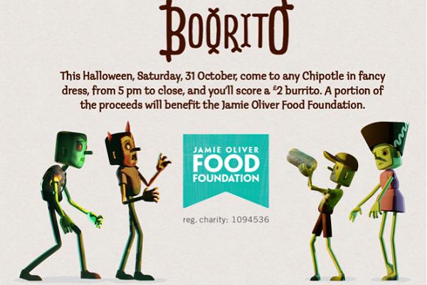 Ve disfrazado a Chipotle en Halloween y consigue un burrito a 2 libras