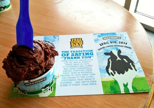 Ben&Jerry's regala helados gratis por todo el mundo en el Free Cone Day.