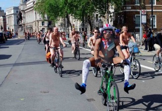 naked ride london